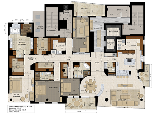 The Jewel Floor Plan
