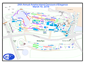 2019 Amelia Island Concours d'Elegance Field Map