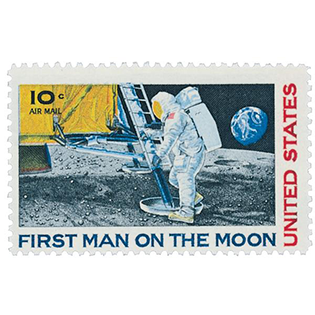Man on the Moon Stamp