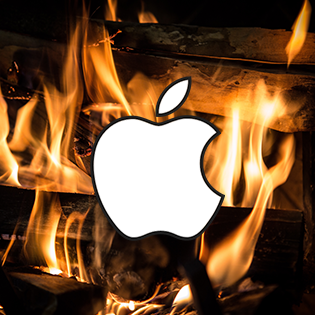 Apple logo hacked