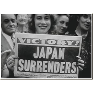 Victory over Japan in WW II celebrated in newspaper