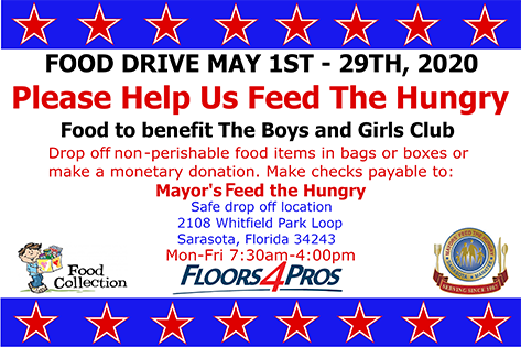 May 1-29, 2020 Food Drive Food Benefing The Boys And Girls Club